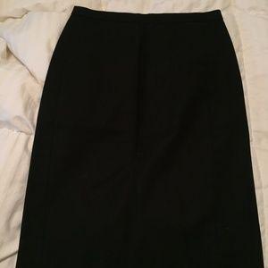 J Crew Black Pencil Skirt sz 00
